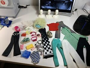 Vintage Barbie Doll Clone, Hand Made Clothes Lot Shoes Accessories