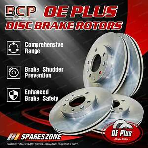 BCP Front + Rear Disc Brake Rotors for Citroen XM Berline 1991-2001
