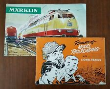 Lionel Marklin Model Train Catalog 1951 1966 Railroad Advertising Engine Vtg