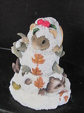 Charming Tails A Snowy Trio 97/16 Club Exclusive Mouse Rabbit Raccoon in Snow