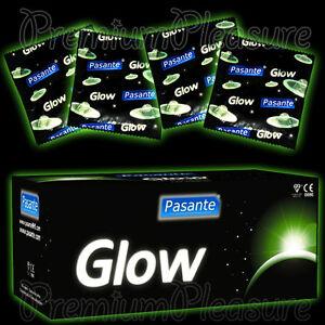 Pasante Glow IN The Dark Fluorescente Condones Brillante Diversión Condones