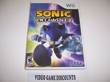 Original Box Replacement Case for Nintendo Wii - SONIC UNLEASHED