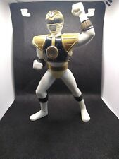 "Power Rangers 1995 Mighty Morphin 8"" White Ranger Saban ToyBiz PROJECTOR Used"