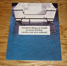 Original 1993 ? Tohatsu Outboard Motor Sales Brochure Folder