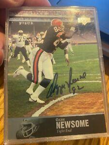 HOFer Ozzie Newsome Authentic Autographed 1997 Upper Deck Legends Card