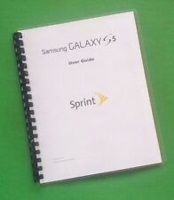 Samsung Galaxy S5 For Sprint 199 Page Owners Manual Laser 8.5X11""