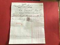 Lancefield Forge Co Manufacturers Finishers  1884  Glasgow receipt R33499