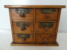 More details for set of 6 spice drawers all handles complete wall / freestand