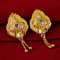 Indian Goldplated Traditional Earrings 18K Stud Bridal Bollywood Fashion Jewelry