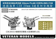 VETERAN 1/350 VTW-35056 GERMAN NAVAL KRIEGSMARINE 20mm FLAK-VIERLING C38