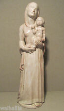 Maria mit Jesus Kind  alte Skulptur Lasierter gebrannter Ton