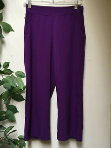 CHICO'S ZENERGY 0 (4/6) Purple  Poly/Spandex Fitted Cropped Pants B