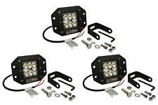 "3x 5"" 24 W Watt LED Flush Mount FLOOD Light CREE Off Road Driving Fog"
