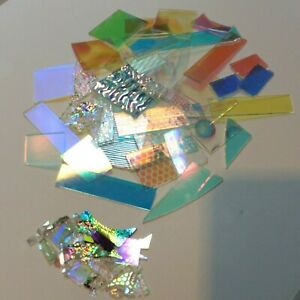 1 lb Dichroic Glass Scrap Variety for Fusing Jewelry COE 96