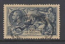 Great Britain Sc 224 used 1934 10sh dark blue Britannia, light even toning