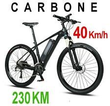 VTT 40 Km/h fibre de carbone 230 KM vélo électrique Longue Autonomie Homologué