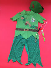 Disney's Peter Pan Costume Boys Dress Up with Bow & Arrows Age 5/6 years outfit