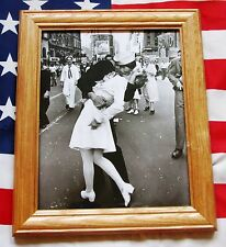 Framed World War Two Photograph,  V J DAY. Times Square Kiss, Victory over Japan