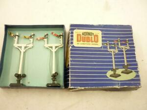 2 x HORNBY DUBLO ALL METAL JUNCTION SEMAPHORE SIGNALS - BOXED D3/32132,