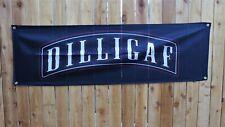 New Dilligaf Banner Sign Flag 1%er Rocker Patch Style Biker Bar Man Cave