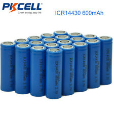 (Pack of 20) ICR 14430 3.7v 600mAh Li-ion Rechargeable Batteries Cell PKCELL