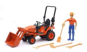 New Ray Kubota BX2670 Lawn tractor Loader playset 1/18th figure accessories