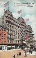 New York City NY c1910 Postcard Broadway Central Hotel