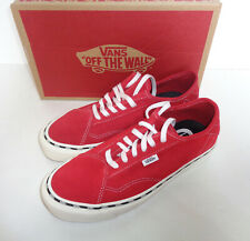 VANS DIAMO Mens Trainers White Red Casual Lace Skate Shoes New RRP £70 Size 9