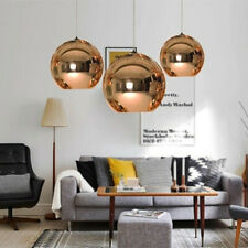 electroplating ball Copper Mirror Ceiling Light Pendant Lamp Lighting gold