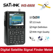 "Satlink WS-6906 Satellite Signal Finder Meter Receiver DVB-S 3.5"" FTA for TV AV"