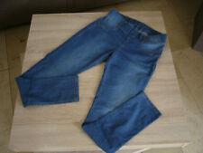 Damen - Stretch - Jeggings, Gr.40-42, 2 Taschen und Gürtelschlaufen, Stonewash