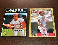 1987 Topps #648 Barry Larkin RC HOF Cincinnati Reds