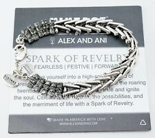 Alex and Ani Vintage Sixty Six Spark of Revelry Black Diamond Flapper Bracelet