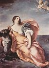 Oil painting Salome Guido Reni - Lady with cow on the ocean with angel canvas