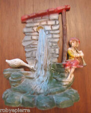 Statuina presepe vintage crib statue italy forse Isas '60 pastorello fontana oca