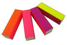 2 X Nail Art Buffer Sanding Block File 80/120/180/240 Grit Gel Acrylic Tips Nail