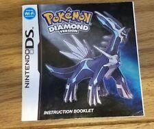 Pokemon Diamond Version Nintendo DS Manual ONLY