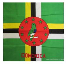 DOMINICA FLAG BANDANA Cotton Scarves Scarf Head Hair Neck Band Skull Wrap Hanky