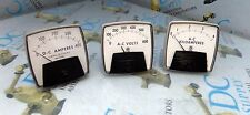 GE GENERAL ELECTRIC A-C KILOAMPERES A-C VOLT & D-C AMPERES METER LOT OF 3