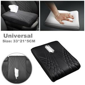 Car SUV PU Leather Armrest Memory Cotton Central Control Pad Cushion Tissue Box