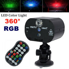 360° Rotating Bracket RGB LED USB Car Roof Lamp Projector Atmosphere Night Light