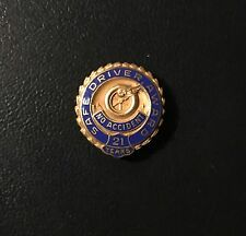 Old Safe Driver Award 21 Years No Accident Tire Pin 10k Gold Goodyear