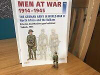 Del Prado Men at War 1914-1945, #42, German Pte, Tobruk, 1941, fig/book #42