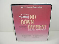 How To By Your First Home or Property with No Down Payment Audio Book Cassette