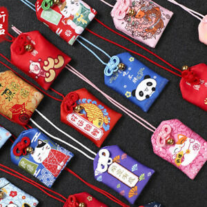 1pc Embroidered bless bag Keychain Omamori Pray Love Health Safe Study WealCW