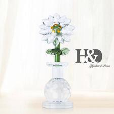 Clear Crystal Sun Flower Figurines Cut Glass Ornaments Mother Gift Wedding Decor