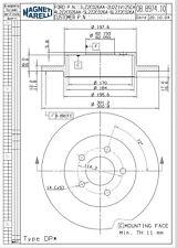 Disc Brake Rotor-XLT Rear Magneti Marelli 1AMVR20108