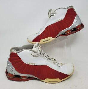 Nike Shox BB4 White & Red Vince Carter 2000 Edition Mens Size 12