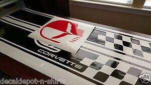 Chevrolet Corvette C4 Sport front Hood Racing Stripes decal pre-cut 1984 - 2012
