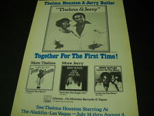 Thelma Houston & Jerry Butler together for 1st time 1977 Promo Poster Ad mint